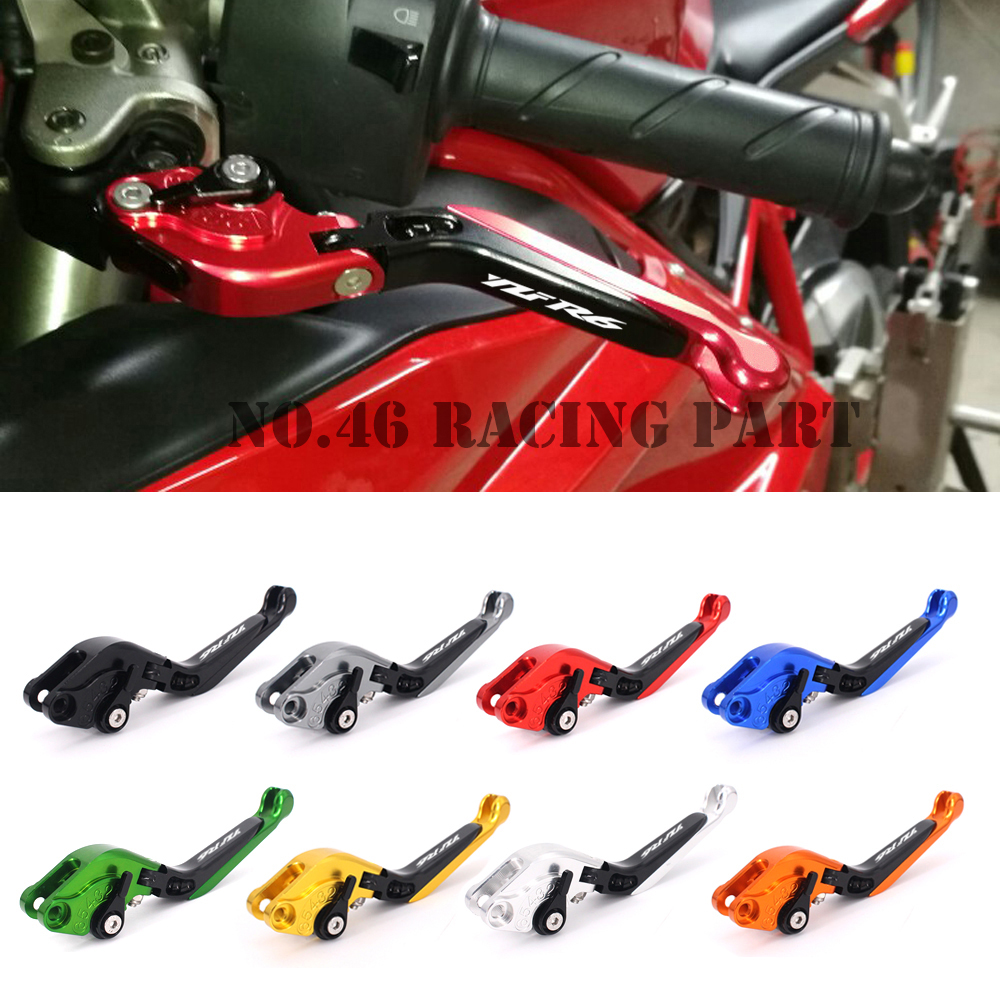 8 Colors CNC Motorcycle Brakes Clutch Levers For YAMAHA YZF-R6 YZF R6 1999 2000 2001 2002 2003 2004 Free shipping short clutch brake levers for yamaha yzf r6 1999 2004 cnc 2000 2001 2002 2003 blue adjustable 10 colors