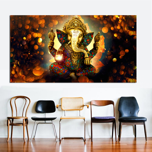 9d629c759a3 Large Paintings Canvas Prints Shiva India Lord Elephant Religion Buddha  Painting Wall Art Picture for Living Room Home Decor
