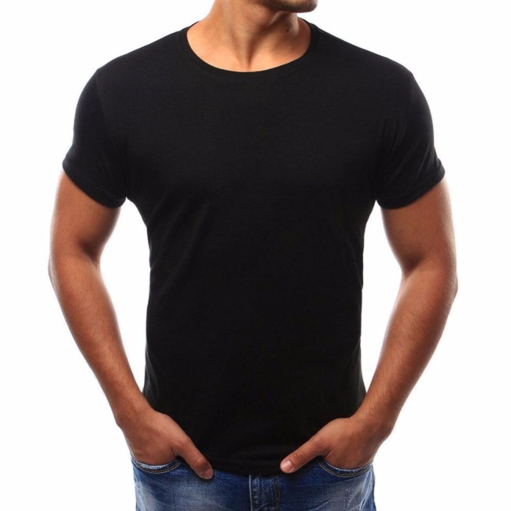Male 2018 Brand Short Sleeve Solid Color T Shirt O-Neck Slim Men T-Shirt Tops Fashion Mens Tee Shirt T Shirts M-4XL