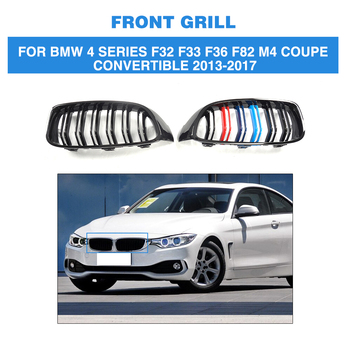 ABS Front Bumper Grille Cover Trim Accessories For BMW 4 Series F32 F33 F36 F82 M4 M Sport Coupe Convertible 2 Door 2013-2017 grille