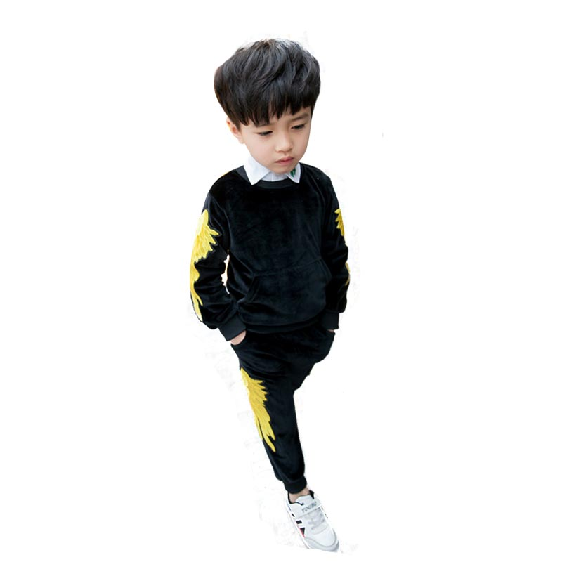 Infant Boy Clothes Autumn Baby Boys Clothing Set Long Sleeve Warm Suits Winter 12 Months to 6 Years  O-Neck Coat Pullover+Pants