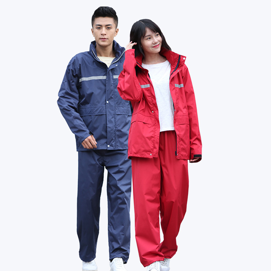 Reflective Raincoat Hiking Size Riding Jacket Motorcycle Universal Waterproof Rain Cover Velo Electrique Adult 50KO200