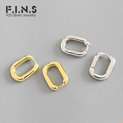 F.i.n.s miimalismo puro 925 brincos de prata pequenos brincos de argola cor do ouro coreano moda 925 prata feminino jóias finas