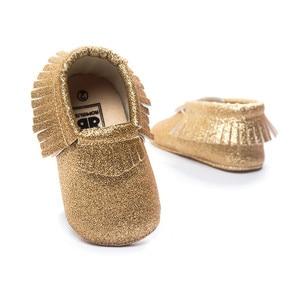 golden color baby mocassins baby toddler girls boys newborn infantil shoes for bebe first walkers 0~18 month.CX30C