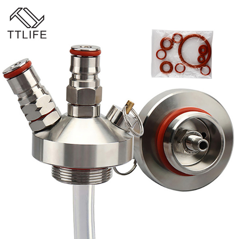 TTLIFE Stainless Steel 3.6L/5L/10L Mini Keg Tap Dispenser With 12'' Beer Hose For Mini Craft Beer Keg Growler Homebrew Spear New image
