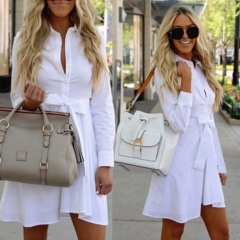 Long Sleeve Shirt Dress 1