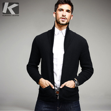 Autumn Mens Sweaters Male Winter Cardigan Pocket Man's Black Knitwear Slim Fit Zipper Brand Clothing SweaterCoats