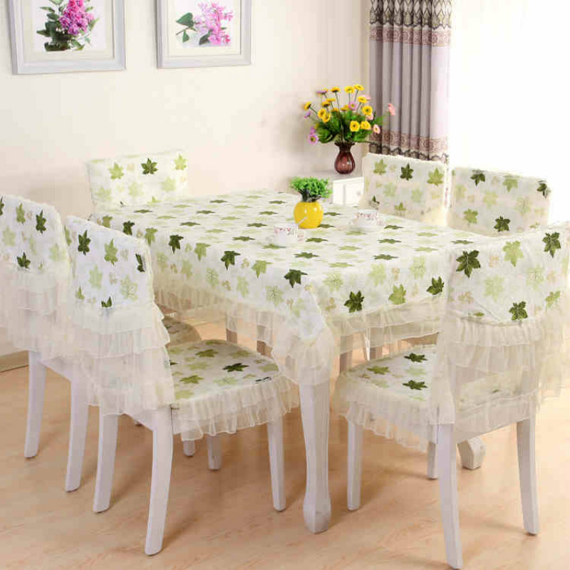2017 Pastoral PVC Tablecloth Waterproof And Oil Proof Maple Leaf Pattern Rectangular Home Living Room Table