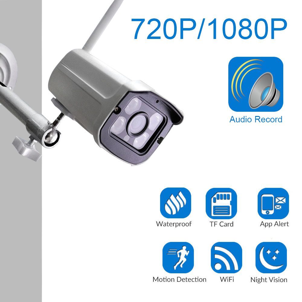 HD Wifi IP Camera 2.0MP 1080P Outdoor Weatherproof Infrared Night Vision Security Video Surveillance Camera Audio RecordHD Wifi IP Camera 2.0MP 1080P Outdoor Weatherproof Infrared Night Vision Security Video Surveillance Camera Audio Record