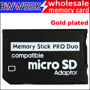 Image 1 - 200pcs/lot  Micro SD Card Adapter to MS Card Gold plated MS Pro Duo Adapter TF Card Reader Memory Stick up to 16GB