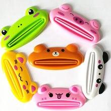 1 sztuk 6 kolor Cute Animal wielofunkcyjny wyciskacz/pasta do zębów wyciskacz Home Commodity łazienka Tube Cartoon dozownik pasty do zębów