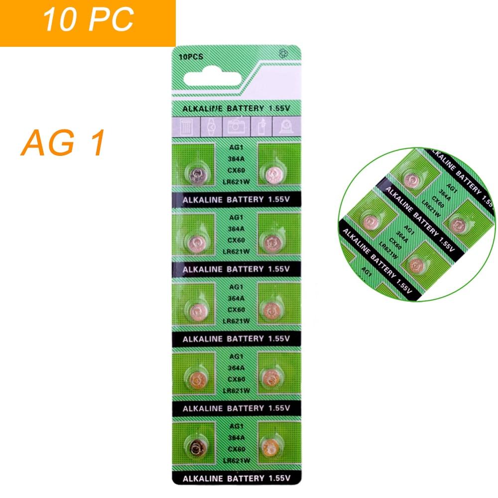 10 X Ag1 Della Vigilanza Delle Cellule Di Batteria Ag1 364 Sr621sw Lr621 621 Lr60 Cx60 Batterie Delle Cellule Del Tasto Della Batteria Alcalina