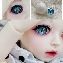 1 Pair DIY Acrylic BJD Eyes blue beast cat eyes 12mm 14mm 16mm 18mm 20mm 22mm Pressure eyes for sd msd BJD Eyes 1/3 1/4 1/6 doll simulating human pressure eyes 12mm 14mm 16mm 18mm for bjd doll sd luts dod as gc53