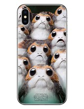 The Last Jedi Porgs Hard Cover For iPhone 5 5S SE 6 6S Plus 7 7Plus 8 8 Plus R2-D2 Case for iPhone X 10