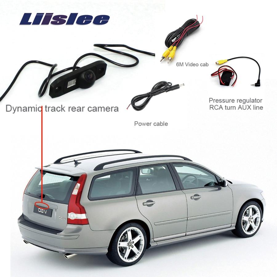 Liislee For Volvo V50  Car Parking Camera Rear View Camera Reverse Backup Camera + Wide Angle  Night Vision