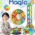 ¡ Caliente!!! Mini Diseñador Magnética Bloques de Construcción Para Niños Juguetes de Plástico 3D DIY Aclare Los Bloques Ladrillos Niños Juego Imán Técnica