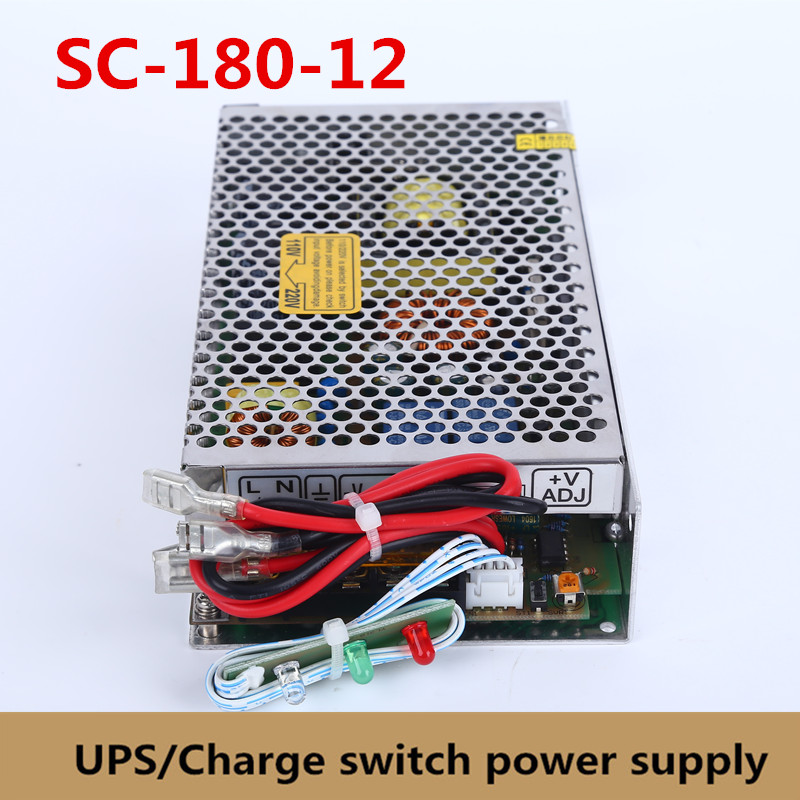 New 180W 12V 13.5A universal AC UPS/Charge function monitor switching power supply input 110/220v battery charger output 12VDC