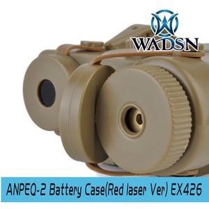 Image 4 - WADSN Airsoft PEQ2 Tactical AN/PEQ 2 caja de batería láser rojo PARA RIELES DE 20mm, sin función, funda de batería Softair PEQ WEX426