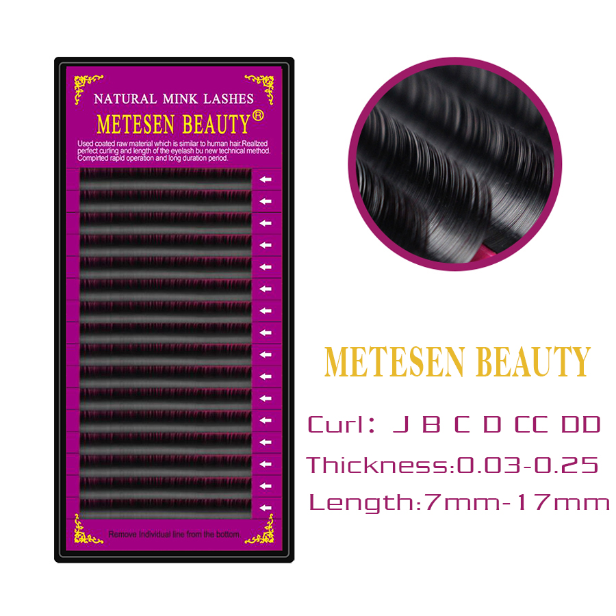 METESEN BEAUTY Fiber Eyelashes Extension Individual Mink Eyelash Extension Natural Thick Soft Lashes Extension For Professionals in False Eyelashes from Beauty Health