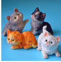 SET Pet animal models of pet cat decorations on counter of the table set by resin crafts cute cats statue home decoration