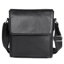 Genuine Leather Sling Bag Simple Design Flap Cover Shoulder Bag Messenger Bag Crossbody Bag 7055- ring front flap shoulder bag