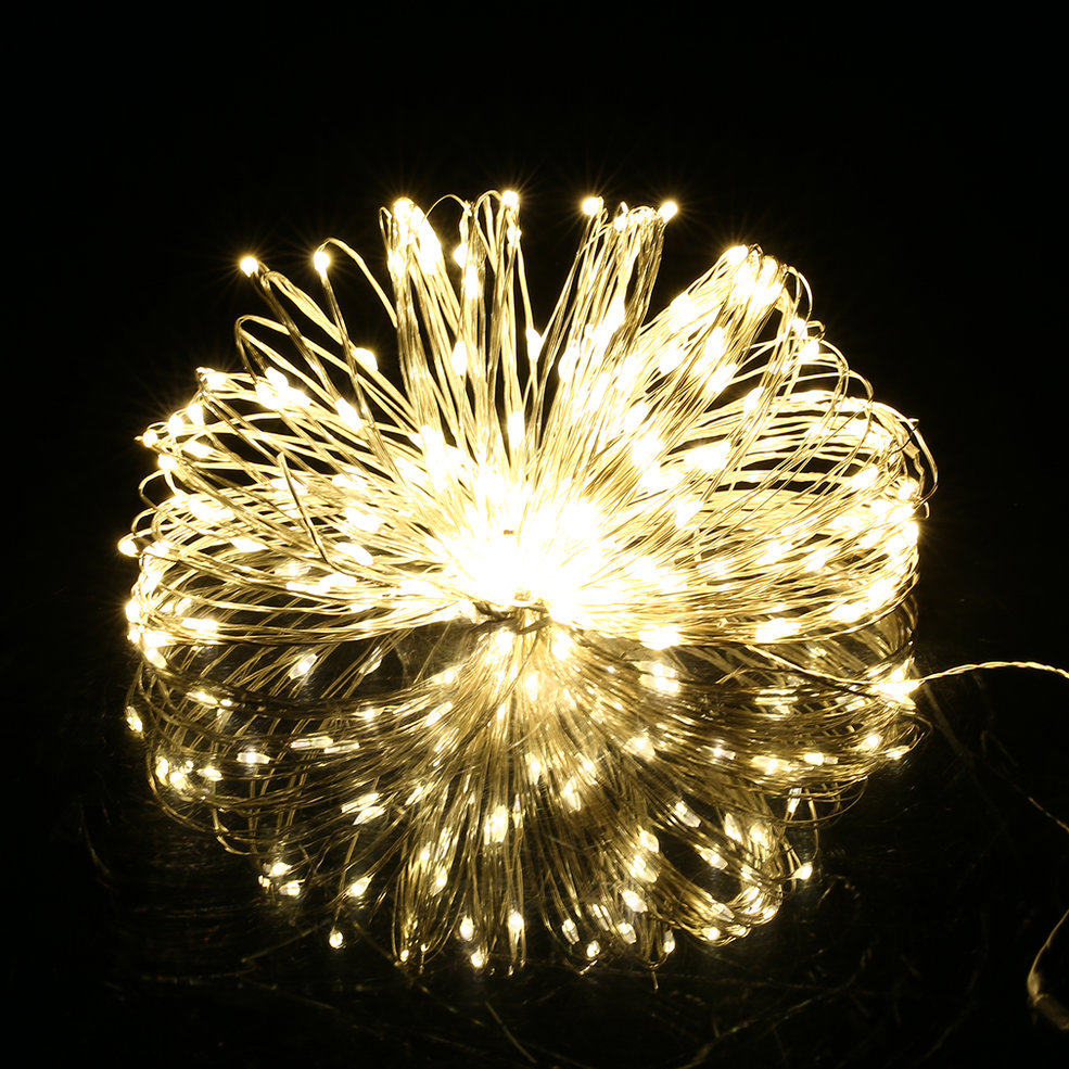 5pcs 5M 50 LED Silver Wire Christmas Wedding Party String Fairy Light Lamp 12V