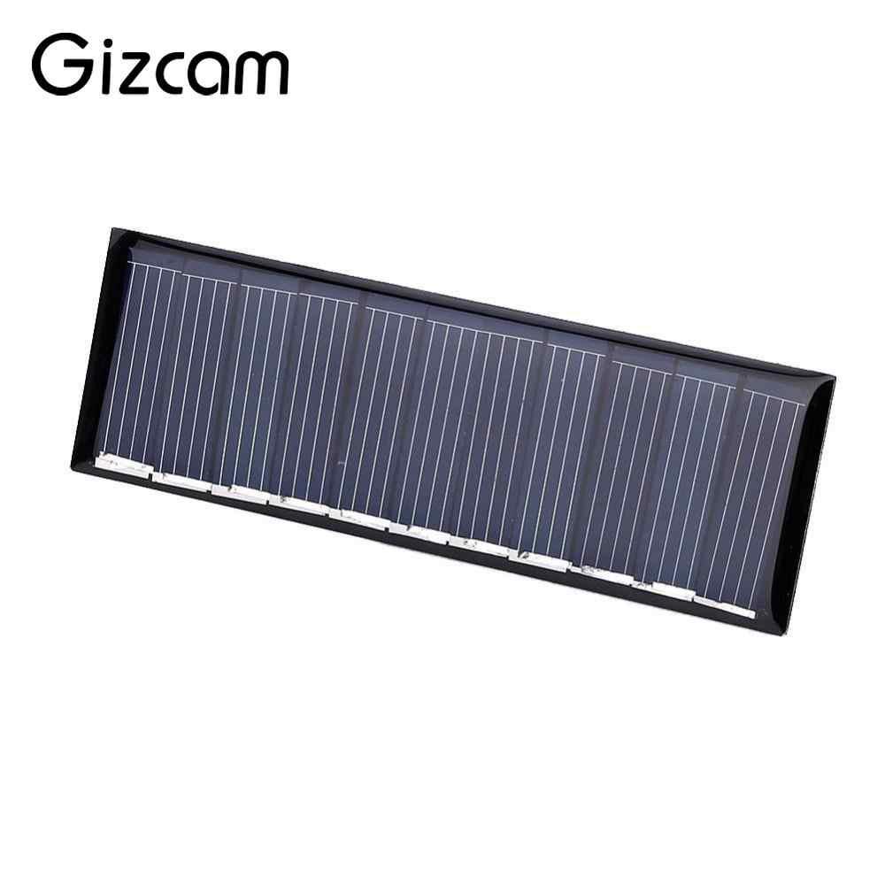 Gizcam Универсальный 5,5 В 50mA 0,45 Вт поликремния Панели солнечные Портативный DIY солнечной Мощность ячейки Зарядное устройство Модуль для телефона Mp3 Mp4
