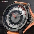 UNIFUN Mens Relógios Top Marca de Luxo Moda Casual Quartz Negócios Relogio masculino Homens Do Exército Militar À Prova D' Água Relógio Esportivo