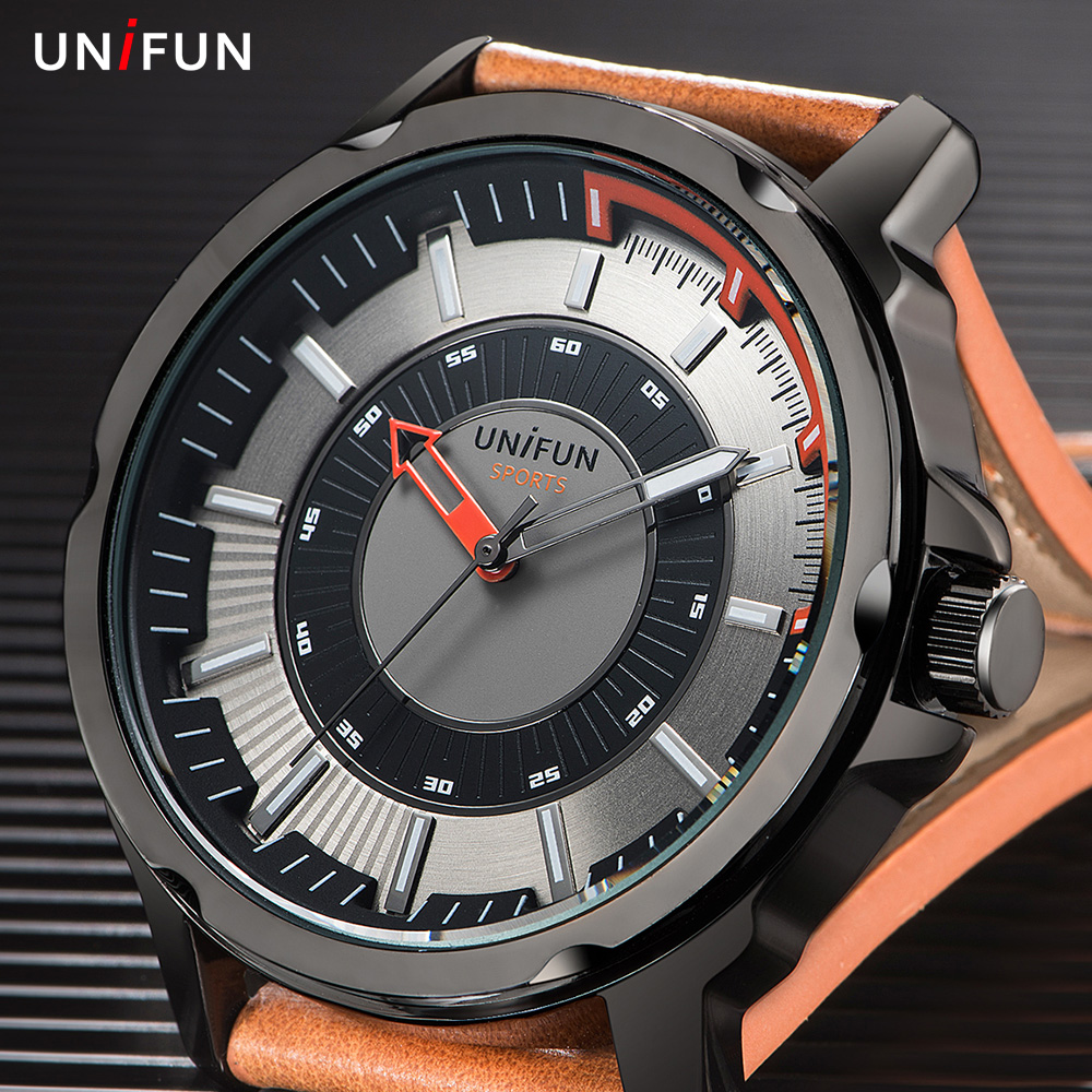 UNIFUN Mens Watches Top Brand Luxury Fashion Casual Quartz Business Relogio Masculino Army Military Waterproof Men Sports Watch break top brand luxury watch men casual sport clock military army relogio masculino mens male casual quartz watches business