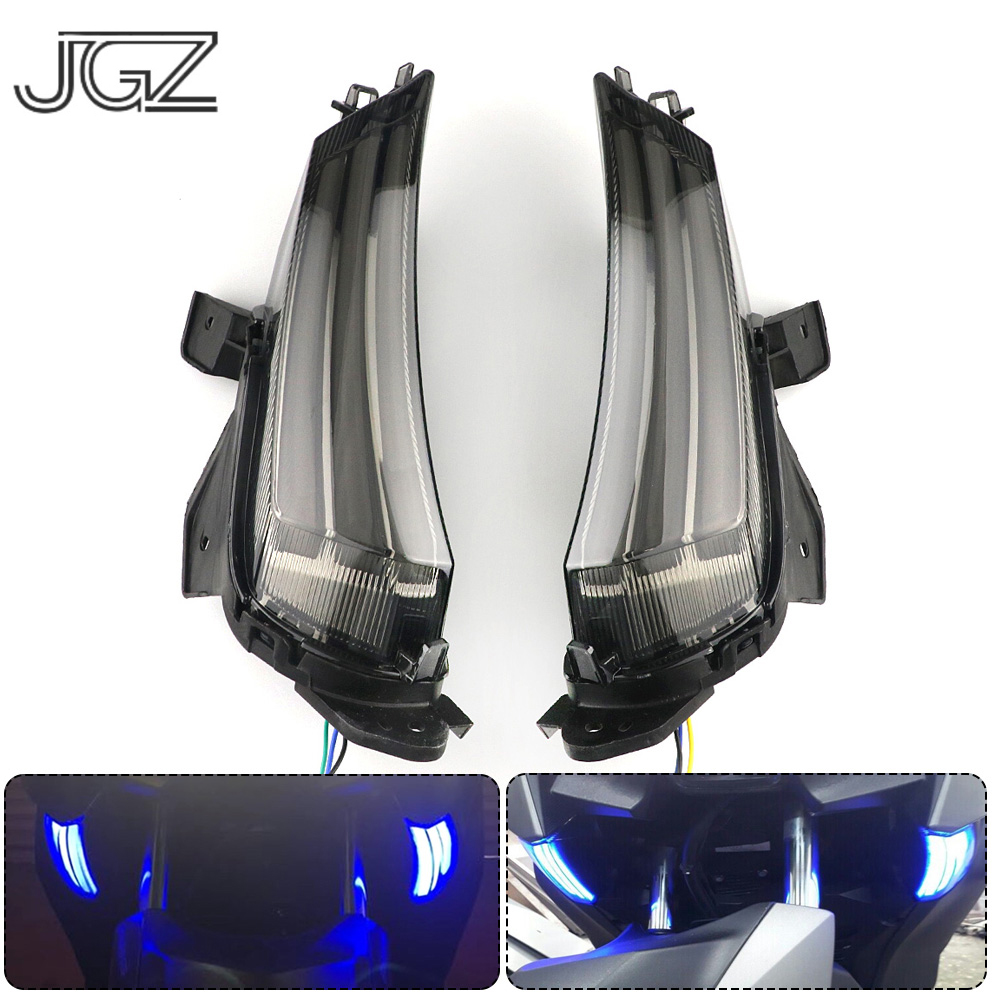 Pair Motorcycle Modified LED Front Turn Signal Running Lights Indicators Side Lamp For YAMAHA XMAX 250 X-max 300 2017 2018
