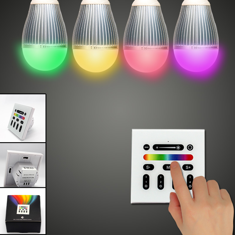 Mi light 2.4G 4-Zone Touch Screen RGB RGBW Led Controller Wireless RF Remote Controller for Mi Light Led Bulb Led Strip Light 2 4g rgb touch screen led remote controller mi light wireless wifi 3pcs 4 zone wireless rf controller for rgb led strip bulb