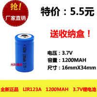 3,7 v li po li-ion batterien lithium-polymer batterie 3 7 v lipo li ion lithium-ionen für LIR123A 16340 Taschenlampe Lampe