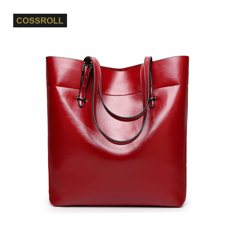 High Quality Leather Women Bag Bucket Shoulder Bags Solid Big Handbag Large Capacity Top handle Bags Summer Fashion New Arrivals  new arrive women leather bag fashion zipper handbag high quality medium solid shoulder bag summer women messenger bag