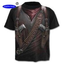 2019 new large size mens wear t-shirt European round collar 3D printing short-sleeved T-shirt stranger things