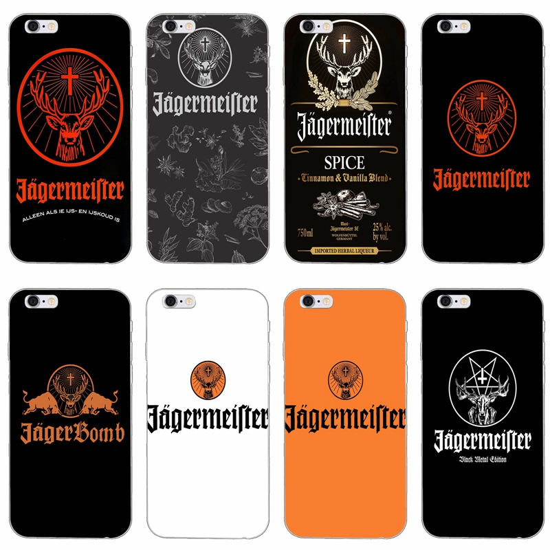 Jagermeister logo slim silicone Soft tpu phone case For iPhone X 8 ...