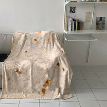Tortilla Soft Fleece Throw Blanket Printing De Harina Burrito Round And Square Shape Funny Gag Gift HB