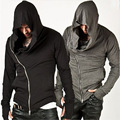 2016 Mens Assassins Creed Hoodies Hip Hop Streetwear Zipper Fashion Sweatshirts Men's Tracksuit Brand Design Hoody