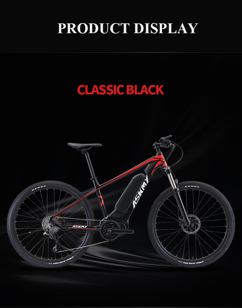 HTB1zAocXEvrK1RjSspcq6zzSXXaO - 27.5inch electrical mountian bicycle 36V250W bafang mid-motor Hybrid bike electrical e-bike 9speed EMTB good LCD Off-road bicycle