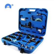 28 pz/set serbatoio auto leak tester radiatore tester di pressione di vuoto di raffreddamento sistema di test rilevatore di perdite strumento
