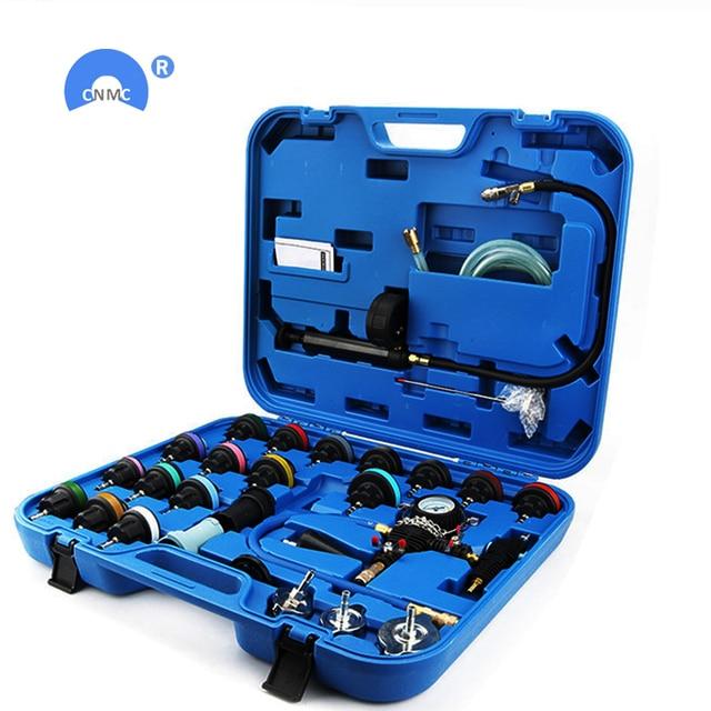 28pcs/set car tank leak tester radiator pressure tester vacuum cooling system test  leak detector tool