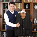 In the fall and winter of 2016 big yards and wool warm cotton vest middle-aged Men's vest