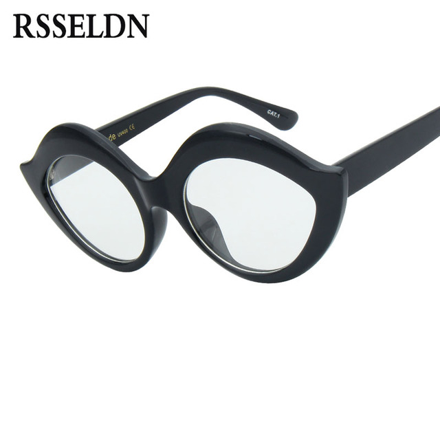 rsseldn vintage women fashion sunglasses brand designer oversize ladies cat eye sun glasses for women men