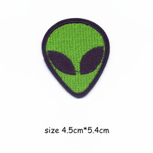 Green Aliens Embroidery Patch for Clothing Iron on Embroidered Sew Fabric Badge Garment DIY Apparel Applique Accessories