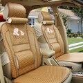 Tampa de assento almofada do assento de carro almofada De Bambu papyral bonito dos desenhos animados