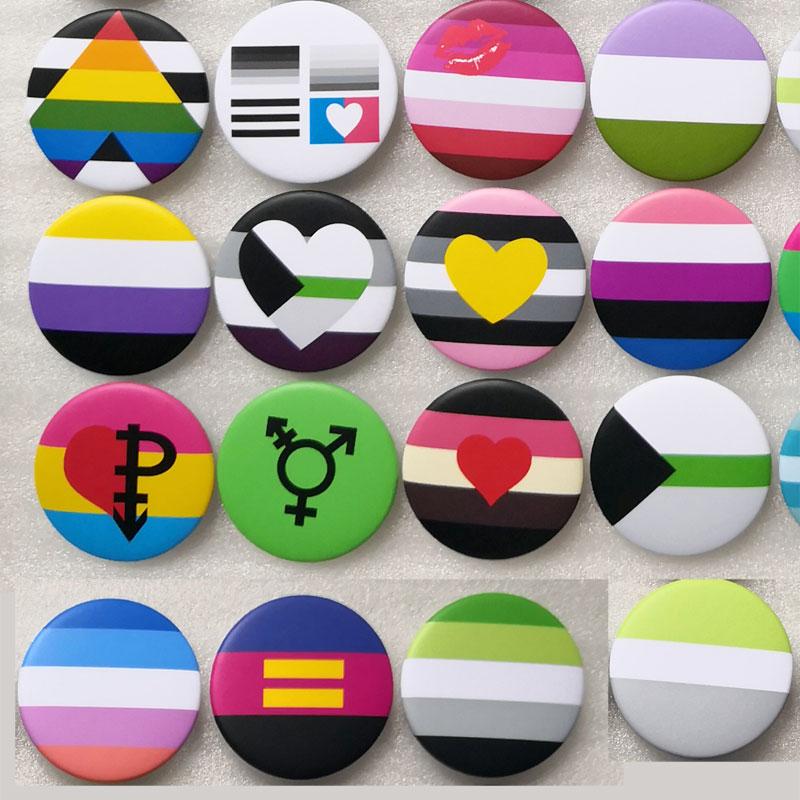 Трансгендеров гордость с изображением ЛГБТ-радуги Гей, бесполые гордость значки Love is Би любвеобильного шпильки panromantic нагрудных значков