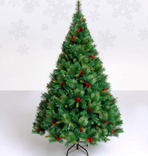 Free Shipping Christmas Tree 210cm Quality Pine Artificial Christmas Tree W/Red Pine Cones