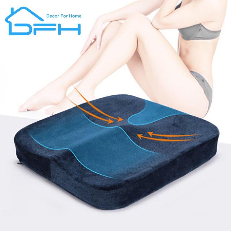 DFH Slow Rebound Sofa Cushion Memory Foam Cushion Office Driving Car Seat Beautiful Hip Pad Chair Pad Thickening Hemorrhoid Seat