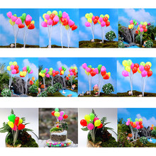 Simulation Colorful Balloons Miniatures Dolls Home Garden Decoration Plastic Micro Landscape Garden Decorations Christmas Gift(China)
