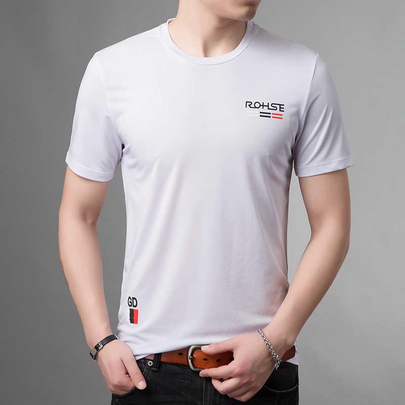 2019 nowa marka odzieżowa Tshirt męskie wzór najwyższej klasy topy Streetwear lato O Neck koreański koszulka z krótkim rękawem męskie ubrania