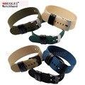 Hot sale nato cinta longa 22mm preto | azul | verde exército | verde | cáqui escuro à prova d' água nylon pulseira + 2 pcs Genuíno laço de couro